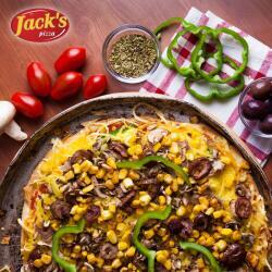 Jacks Pizza With Olives And Sweetcorn