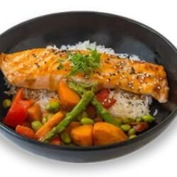 Wagamama Grilled Salmon Fillet Drizzled With Yakitori Sauce
