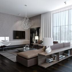 Aplha Blinds Modern Neutral Living Room Curtains