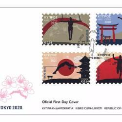 Design Of Tokyo 2020 Official Collectors Stamps From Cyprus