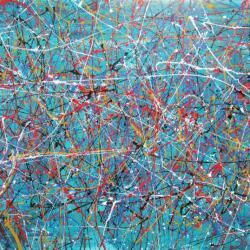 Orbit 2016 Smalt On Canvas
