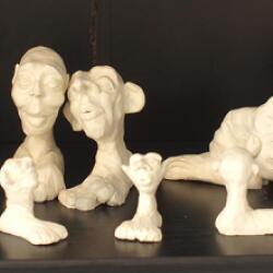 Simoni Symeonidou Artwork Sculptures Naked Gremlins