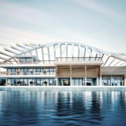 Marina Yacht Club Architecture Visualization