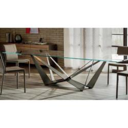 Lavdas - Glass Steel 44 Dining Table