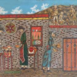 Michael Chr Kashalos Kalikantzaroi Goblins Oil On Cradled Panel