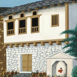 Nicos Engonopoulos Houses Tempera On Paper