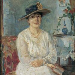 Thalia Flora Karavia Portrait Of A Woman Oil On Wood