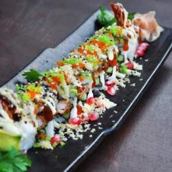 Oshi Panko Shrimp And Avocado Roll