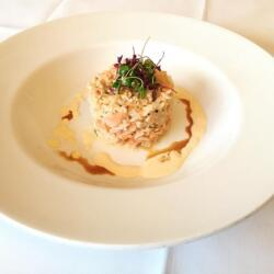 Pyxida Fish Tavern Fresh Salmon With Rice And A Secret Sauce
