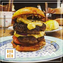 Bur Ger Double Burger With Egg