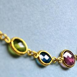 Custom Made Jewelry Colored Stones On Gold By Iordanis Jewelry