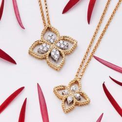 Michalis Diamond Gallery Gold Necklece