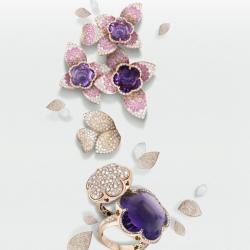 Michalis Diamond Gallery Pink Gold Jewlery