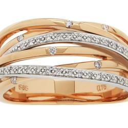 Rose Gold With Diamonds Ring