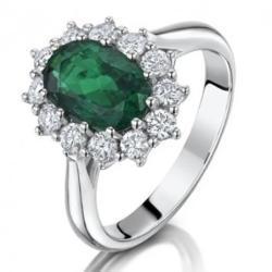 White Gold Emerald And Diamond