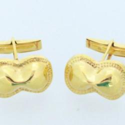 Eight Shaped Shield Gold Cufflings