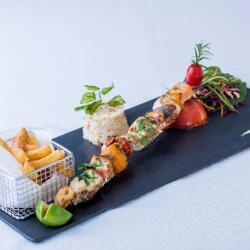 Psarolimano Sword Fish Kebab Grilled