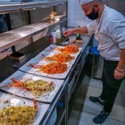 Andria Restaurant Cooking Lobster Pastas