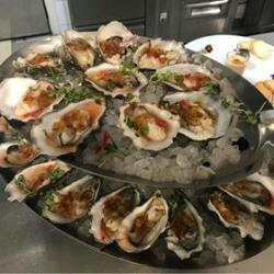Andria Restaurant Oysters Gillardeau