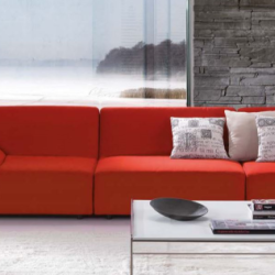 CMC Living - Coral Red Sofa