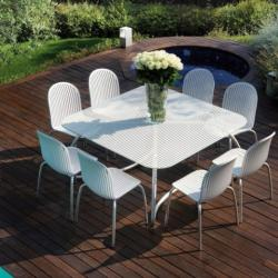 Sotos Outdoor - Ninfea Outdoor Dinning Table With Chairs