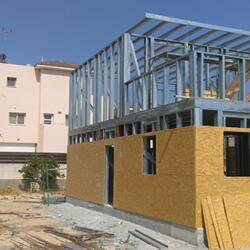 Construction Of A Two Story Steel Frame House Agios Athanasios Limassol