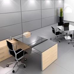 Titan Office - Credenza Executive Desk