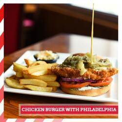Tgi Fridays Cyprus Burger With Philadelphia