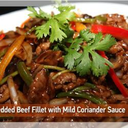 Shredded Beef Fillet With Mild Coriander At Pagoda