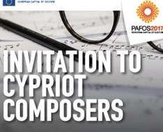 Invitation to Cypriot Composers - Pafos2017
