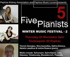 Cyprus Event: Five Pianists - WINTER MUSIC FESTIVAL