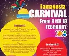 Famagusta (Ammochostos) Carnival 2018