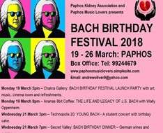 "Cyprus Event: ""Meeting Bach"" - Bach Birthday Festival"