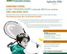 Cyprus Event: Sanchez - Casal Training Camp at Aphrodite Hills Tennis Academy