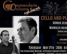Cyprus Event: Doros Zesimos and Manolis Neophytou Cello & Piano Recital