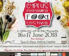 Cyprus Event: Cyprus International Food Festival - CIFF2018Pafos